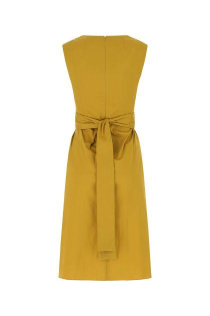 Mustard stretch cotton blend Estremo dress