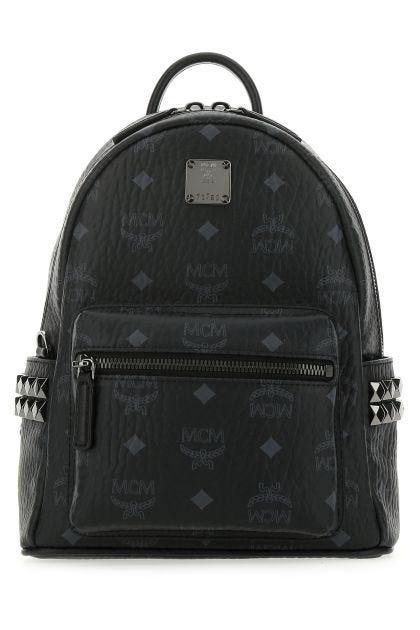 Black leather Stark Side Studs 27 backpack