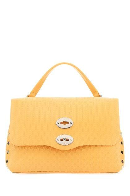 Pastel orange leather Postina S Cachemire Blandine handbag
