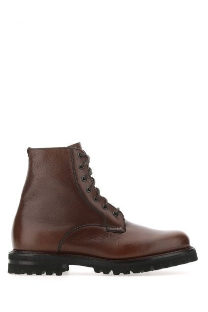 Chocolate leather Coalport 2 ankle boots