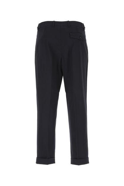 Navy blue stretch cotton chino pant
