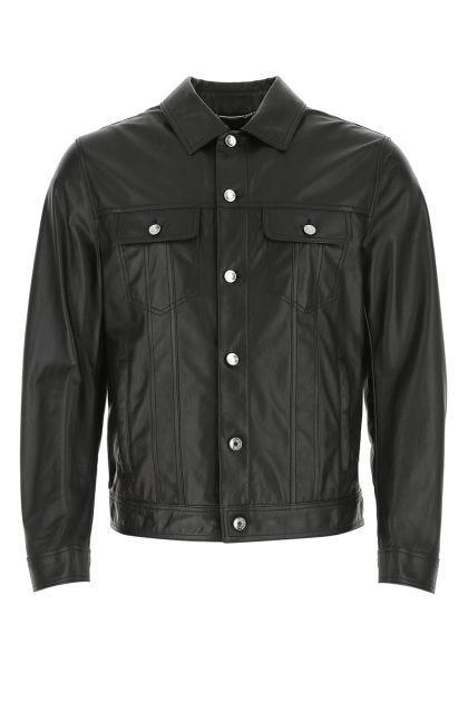 Black nappa leather jacket