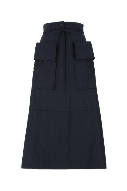 Navy blue polyester skirt