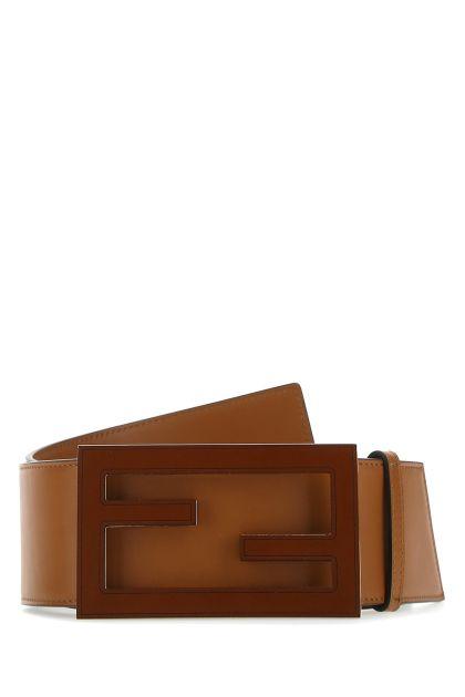 Brown leather Baguette belt