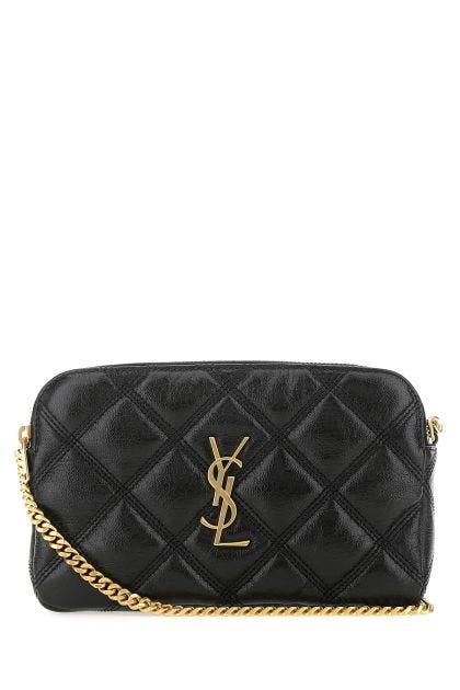 Black leather Becky mini shoulder bag