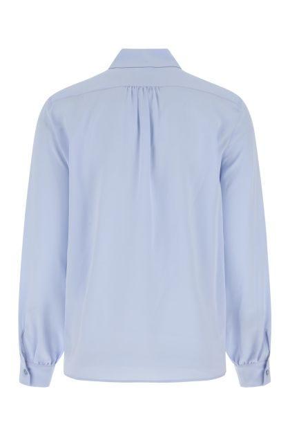 Light blue silk Assuan shirt