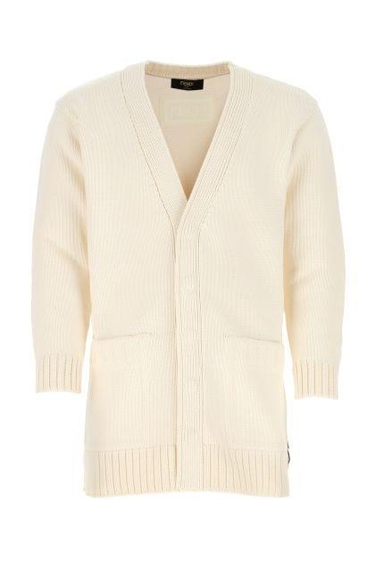Ivory cotton blend cardigan