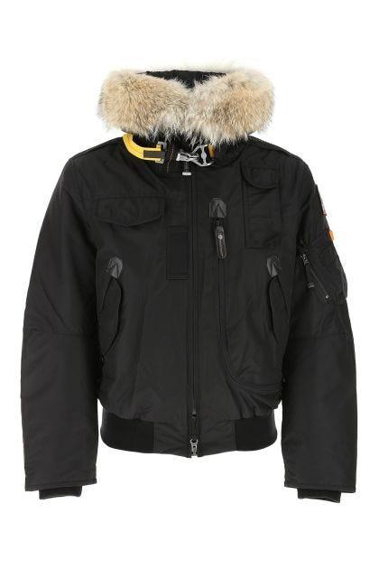 Black nylon Goby down jacket