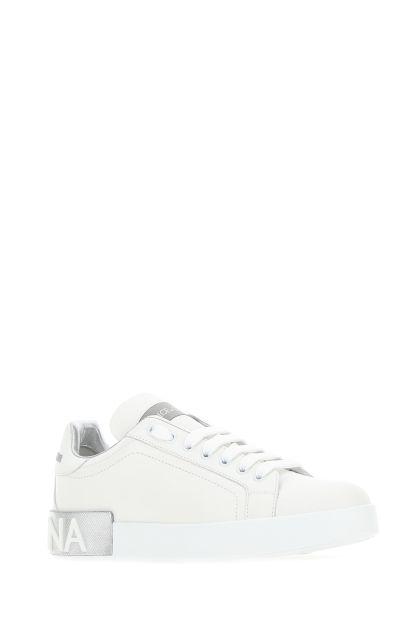 White nappa leather Portofino sneakers