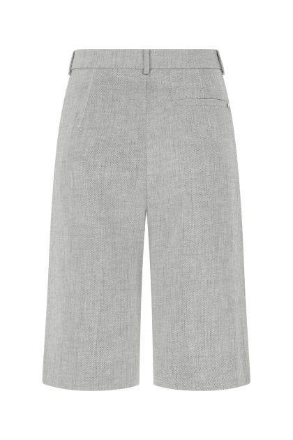 Two-tone stretch linen blend Ricordo bermuda shorts