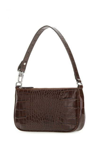 Chocolate leather Rachel handbag