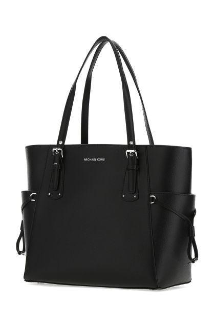Black leather Voyager shoulder bag