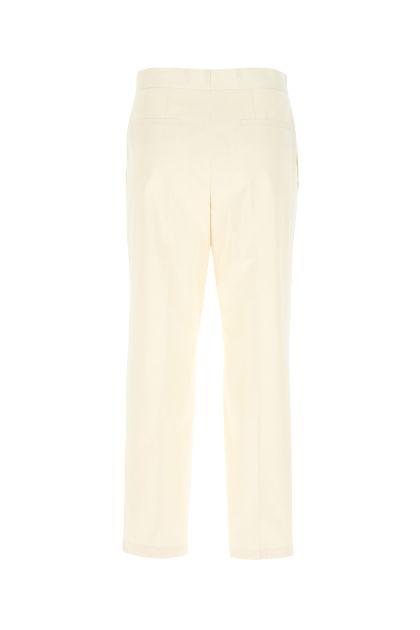 Pantalone in cotone avorio