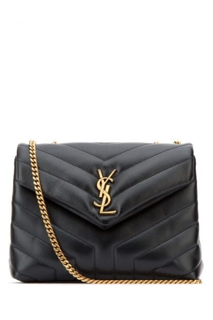 Black leather small Loulou shoulder bag