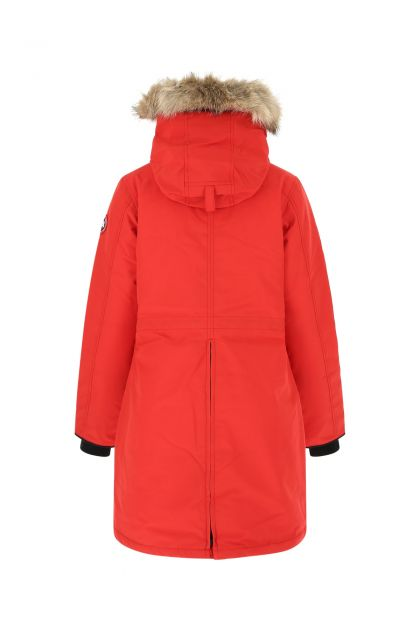 Red polyester blend Rossclair down jacket