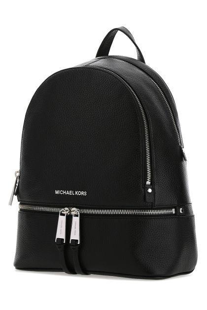 Black Rhea medium leather backpack