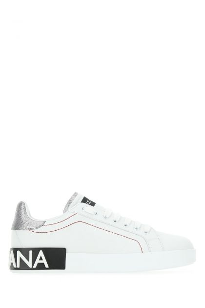 White leather Portofino sneakers
