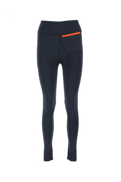 Midnight blue stretch polyester leggings
