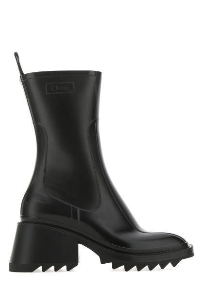 Black PVC Betty boots