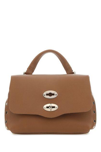 Camel nappa leather baby Postina handbag