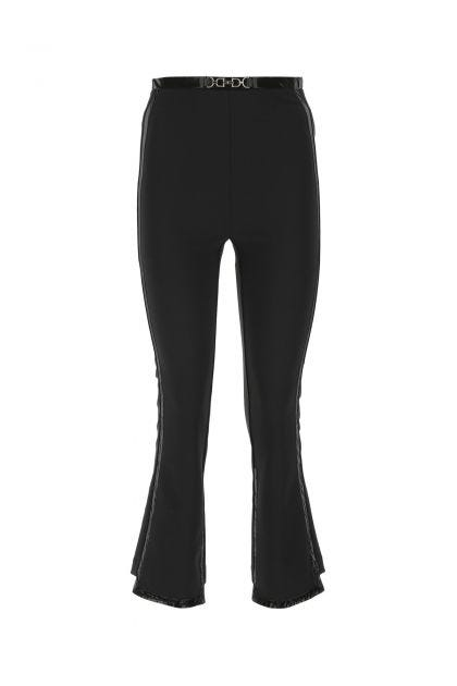 Black stretch polyester cigarette pant