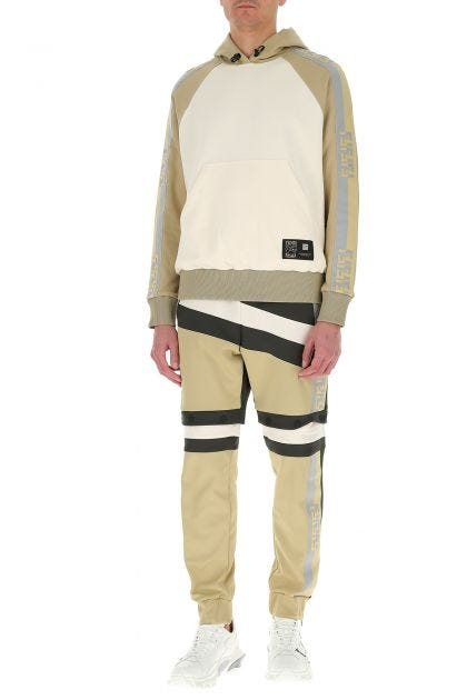 Multicolor polyester blend joggers