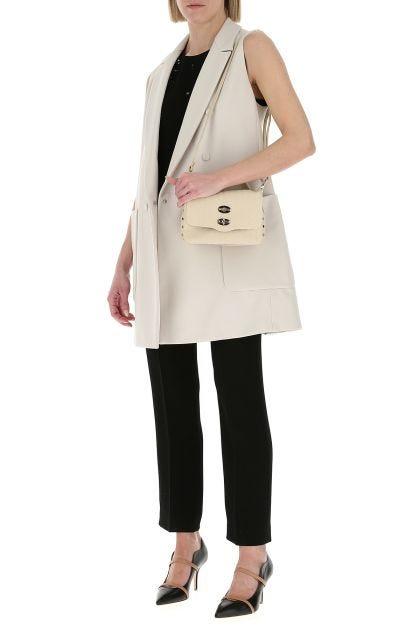 Sand leather baby Cachemire Postina handbag