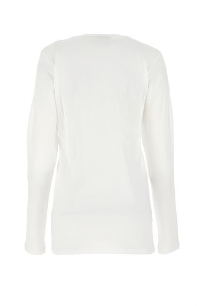 White cotton and modal top