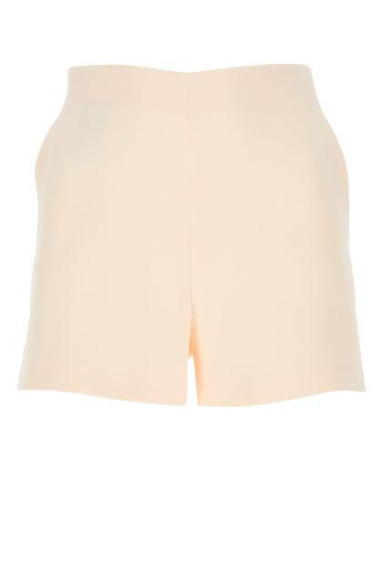 Pastel pink stretch wool blend shorts