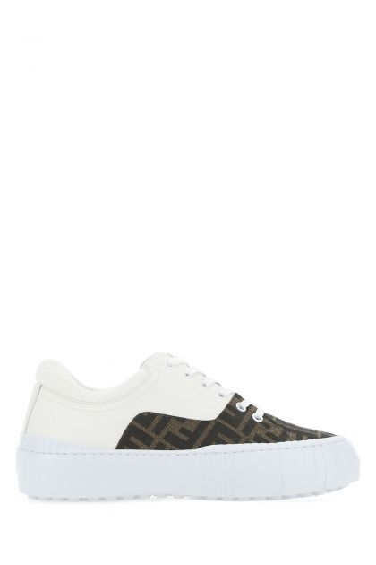 Multicolor leather and fabric Force sneakers