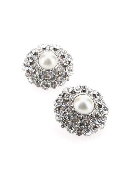 Embellished metal earrings