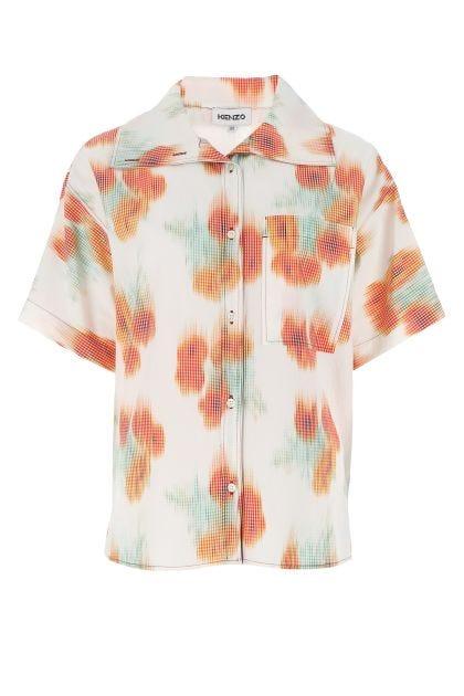Multicolor acetate blend oversize shirt