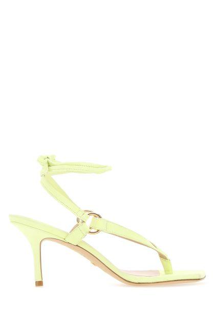 Sandali infradito Lalita 75 in pelle scamosciata verde acido