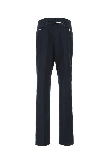 Dark blue polyester blend pant