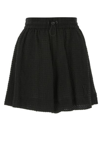 Black viscose blend shorts