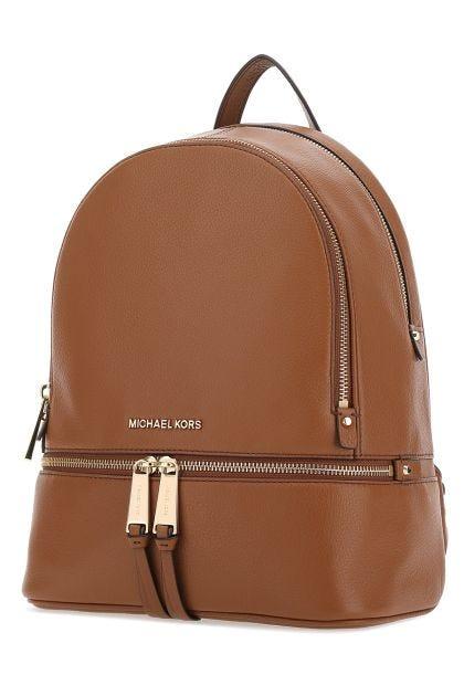 Brown Rhea medium leather backpack