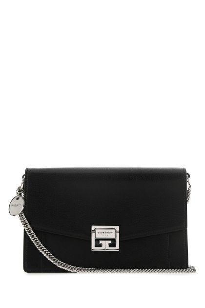 Black leather GV3 clutch