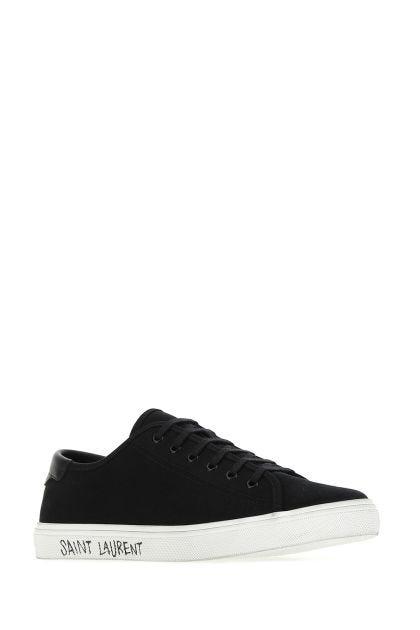 Black canvas Malibu sneakers