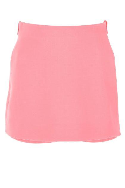 Pink wool blend skirt pant