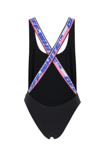Black stretch nylon swimsuit