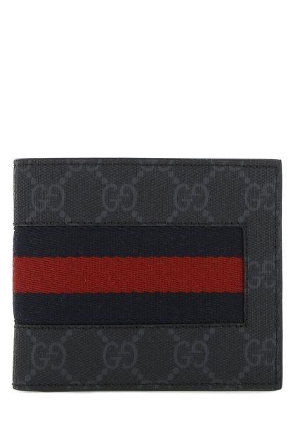 GG Supreme fabric wallet