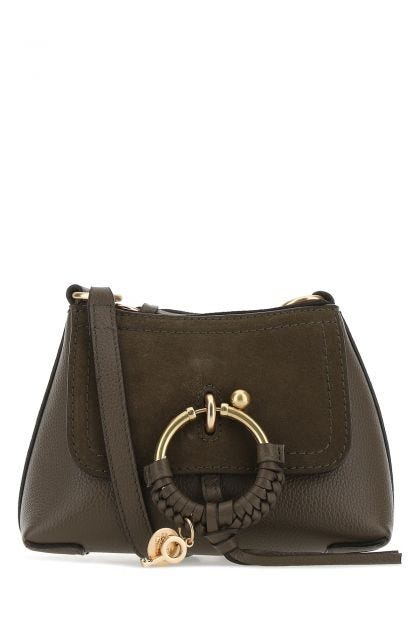Brown leather Joan crossbody bag