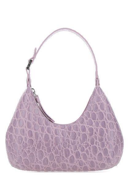Lilac leather baby Amber handbag