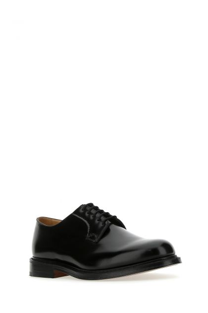 Black leather Shannon lace-up shoes