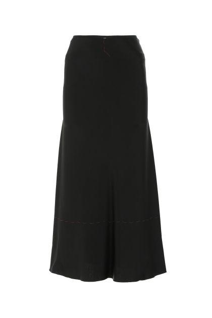 Black viscose blend skirt