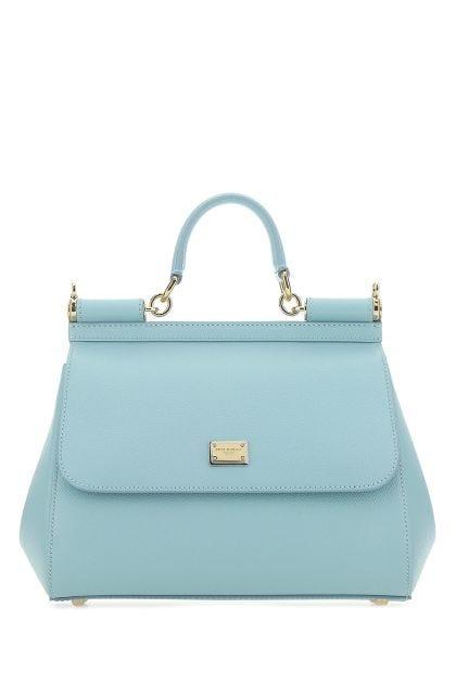 Light blue leather Sicily handbag