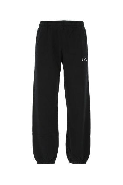 Pantalone jogging in cotone nero