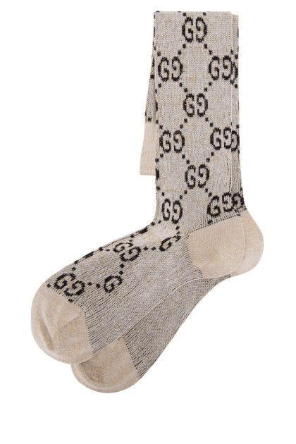 Embroidered cotton blend socks