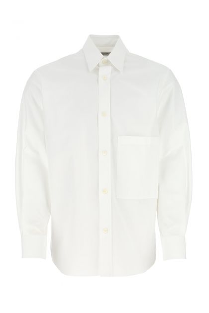 White cotton oversize shirt