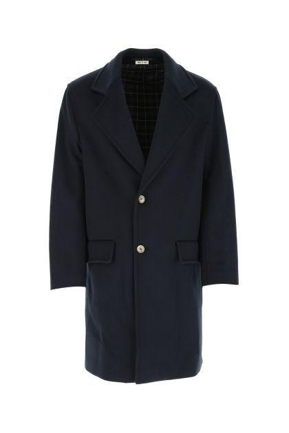 Navy blue wool coat